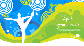 Insegna di Sport Competition Colorful dell'atleta di ginnastica royalty illustrazione gratis