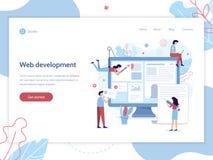 Insegna di sviluppo Web illustrazione vettoriale