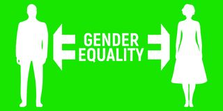 Insegna di uguaglianza di genere Etichetta e logo di relazione di affari Illustrazione di Logo Vector illustrazione di stock