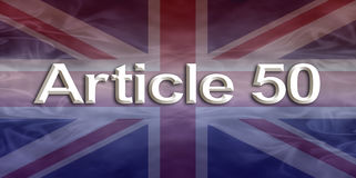 Insegna di Union Jack dell'articolo 50 Immagini Stock