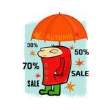 Insegna di vendita di autunno Immagine Stock Libera da Diritti