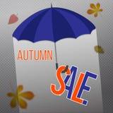 Insegna di vendita di autunno illustrazione di stock