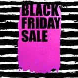 Insegna di vendita di Black Friday con il punto dell'acquerello Immagine Stock