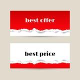 Insegna di vendita con struttura di carta lacerata rossa Royalty Illustrazione gratis