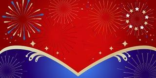 Insegna di vendita di 2019 dei fuochi d'artificio Natali di festival Royalty Illustrazione gratis