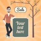 Insegna di vendita dei pantaloni a vita bassa Immagine Stock