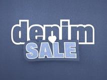 Insegna di vendita del denim Immagine Stock
