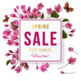 Insegna di vendita della primavera Fotografia Stock