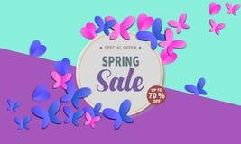 Insegna di vendita della primavera illustrazione di stock