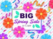 Insegna di vendita della primavera Immagini Stock