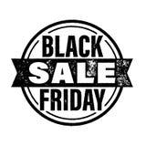 Insegna di vendita di Black Friday, manifesto, bollo di sconto Fotografia Stock