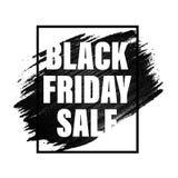 Insegna di vendita di Black Friday, manifesto, bollo di sconto Immagini Stock Libere da Diritti