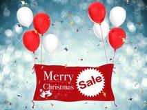 Insegna di vendita di Buon Natale Fotografia Stock