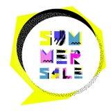 Insegna di vendita di estate Fotografia Stock