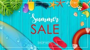 Insegna di vendita di estate Fotografie Stock Libere da Diritti