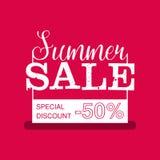 Insegna di vendita di estate Disegno dell'annata Illustrazione di vettore fotografia stock