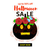 Insegna di vendita di Halloween Fotografia Stock Libera da Diritti