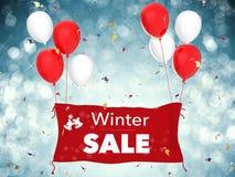 Insegna di vendita di inverno Immagine Stock Libera da Diritti