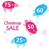 Insegna di vendita di Natale Illustrazione di Stock