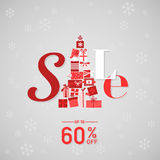Insegna di vendita di Natale Immagini Stock Libere da Diritti