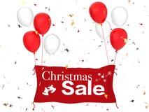 Insegna di vendita di Natale Fotografia Stock