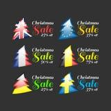 Insegna di vendita di Natale Fotografia Stock Libera da Diritti