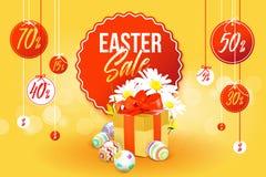 Insegna di vendita di Pasqua Fotografie Stock