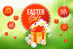 Insegna di vendita di Pasqua Fotografia Stock
