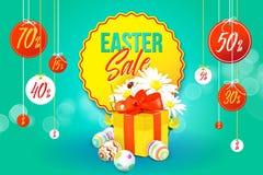 Insegna di vendita di Pasqua illustrazione di stock