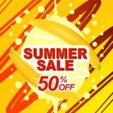 Insegna di vendita di estate Immagine Stock Libera da Diritti