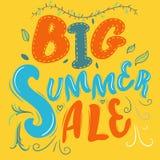 Insegna di vendita di estate Immagini Stock