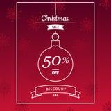 Insegna di vendita di Natale, aletta di filatoio, progettazione del modello della carta illustrazione vettoriale