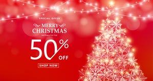 Insegna di vendita di Natale Offerta speciale, tipo testo, 50 di sconto fuori royalty illustrazione gratis