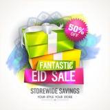 Insegna di vendita o di Eid Sale Poster Immagini Stock Libere da Diritti
