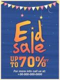 Insegna di vendita o di Eid Sale Poster Fotografia Stock Libera da Diritti