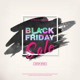 Insegna di vendita di offerta speciale di Black Friday Vettore immagini stock