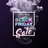 Insegna di vendita di offerta speciale di Black Friday Vettore fotografie stock libere da diritti