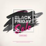 Insegna di vendita di offerta speciale di Black Friday Vettore immagini stock libere da diritti