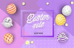 Insegna di vendita di Pasqua immagini stock