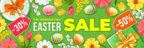 Insegna di vendita di Pasqua illustrazione vettoriale