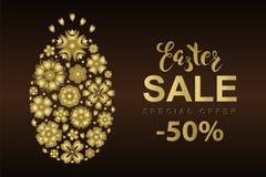 Insegna di vendita di Pasqua di vettore illustrazione di stock