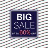 Insegna di vendita per acquisto online con l'offerta di sconto illustrazione vettoriale