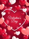 Insegna di verticale di giorno di biglietti di S. Valentino Fotografia Stock Libera da Diritti