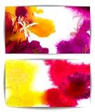 Insegna di vettore dell'acquerello, con i fiori illustrazione vettoriale
