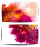 Insegna di vettore dell'acquerello, fiori disegnati a mano astratti royalty illustrazione gratis