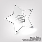 Insegna di vettore della stella Fotografia Stock Libera da Diritti