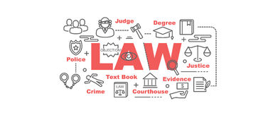 Insegna di vettore di legge Immagine Stock Libera da Diritti