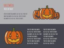 Insegna di vettore di Halloween per il web con le zucche illustrazione vettoriale
