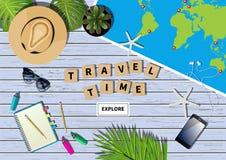 Insegna di viaggio di vettore Immagini Stock Libere da Diritti
