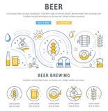 Insegna di web della birra Immagine Stock Libera da Diritti